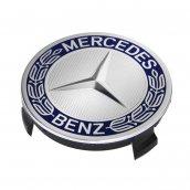 Mercedes-Benz Radnabenabdeckung Stern mit Lorbeerkranz blau 3D-Effekt, A1714000125    5337