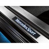 Mercedes-Benz Einstiegsleiste C-Klasse W204 beleuchtet vorne 2-fach weiß Edelstahl, A2046806435