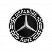 Mercedes-Benz Radnabenabdeckung Stern mit Lorbeerkranz im neuen Design schwarz, A2224002200  9040