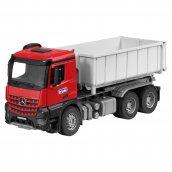 Bruder Spielwaren Arocs 6x4 Abrollcontainer mit Figur Miniaturmodell rot / grau, B66006044