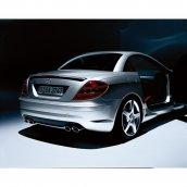 Mercedes-Benz SLK-Klasse AMG Nachschalldämpfer R171 Doppelendrohr verchromt, B66032009