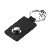 Mercedes-Benz Schlüsselanhänger Fußball schwarz / silber Kalbsleder / Edelstahl, B66950099