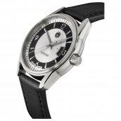 Mercedes-Benz Armbanduhr Herren Business Automatik silber / schwarz Edelstahl / Kalbsleder, B66952930