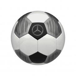 Fußball weiß / silber / schwarz