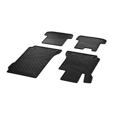 Mercedes-Benz Fußmatten Gummimatten Satz C-Klasse Coupé C204 E-Klasse Coupé C207 4-teilig schwarz