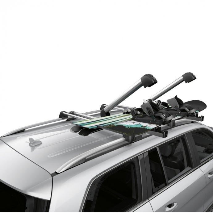 Ski- und Snowboardträger New Alustyle Komfort silber/schwarz