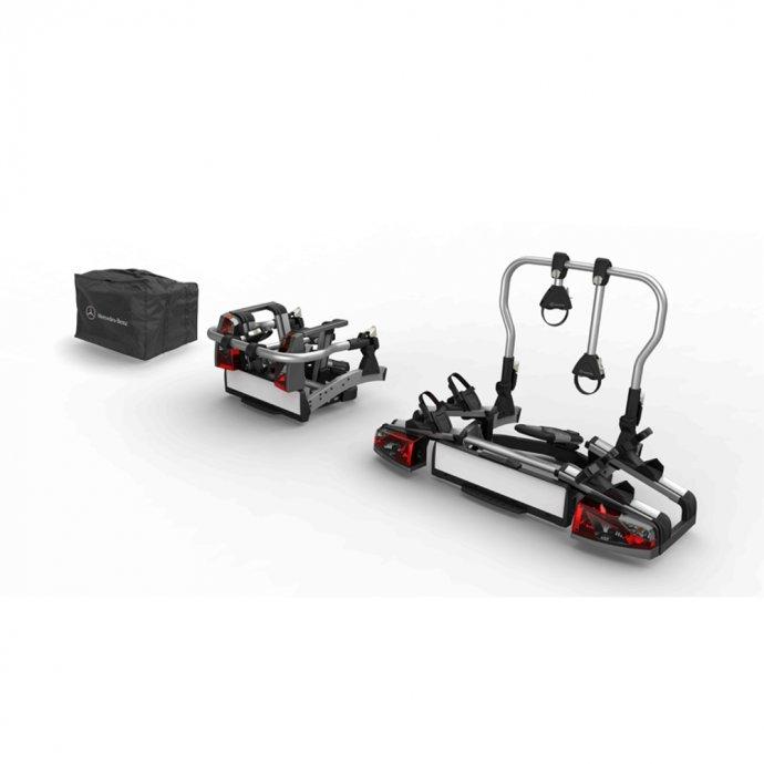 Heckfahrradträger für Anhängevorrichtung klappbar 2 Fahrräder ECE