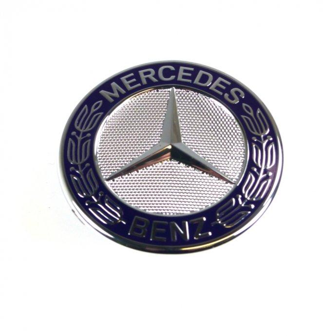 Firmenzeichen am Motorhaube blau E-Klasse C-Klasse