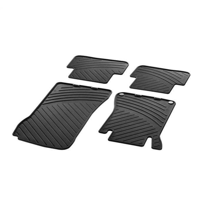 Fußmatten Gummimatten CLASSIC Satz C-Klasse W203 4-teilig schwarz