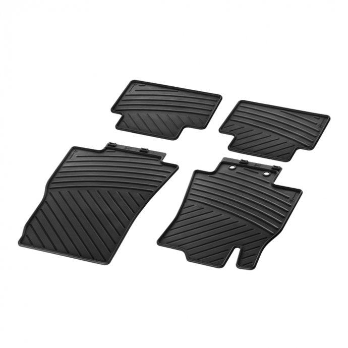 Fußmatten Gummimatten CLASSIC Satz A-Klasse W169 4-teilig schwarz