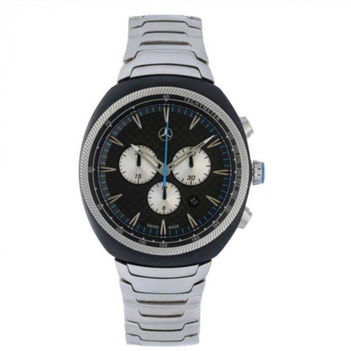 Chronograph Herren Motorsports schwarz/silberfarben/blau