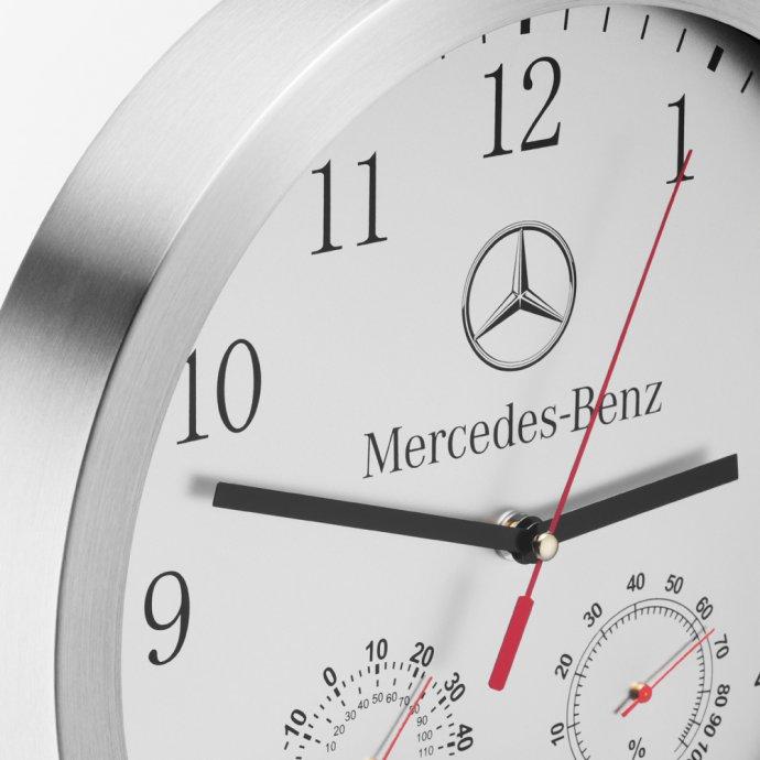 Wanduhr Thermometer und Hygrometerfunktion Mercedes Benz